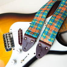 70s plaid polyester guitar strap 2
