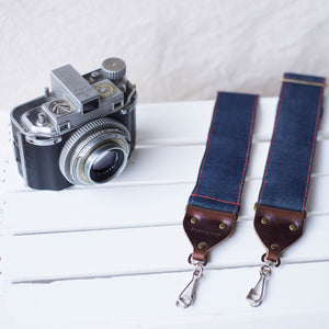 Nashville Series Camera Strap in Blue Denim Product detail photo 1