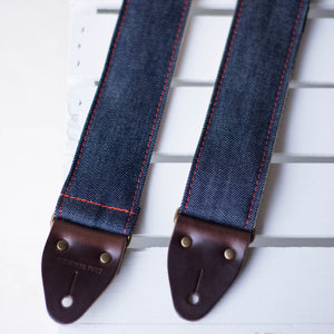 Nashville Series Guitar Strap in Blue Denim