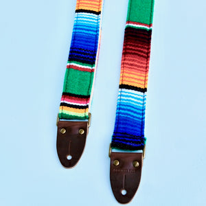 Skinny Serape Guitar Strap in Avocado Product detail photo 0