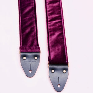 Original Fuzz purple velvet guitar strap made in Nashville, TN.
