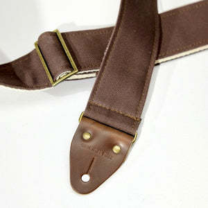 Canvas Guitar Strap in Brown Product detail photo 1