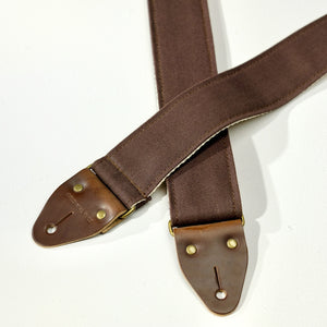Canvas Guitar Strap in Brown