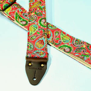 Paisley Guitar Strap in Chicamauga Product detail photo 6
