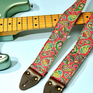 Paisley Guitar Strap in Chicamauga Product detail photo 3