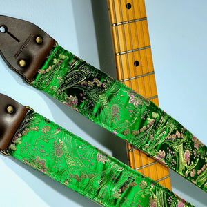 Paisley Guitar Strap in Eugenia Product detail photo 5