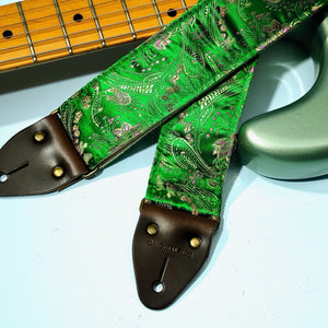 Paisley Guitar Strap in Eugenia Product detail photo 0