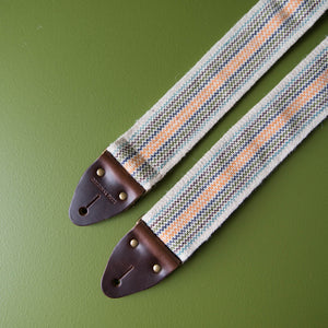 Peruvian Guitar Strap in Cream Stripes Product detail photo 1
