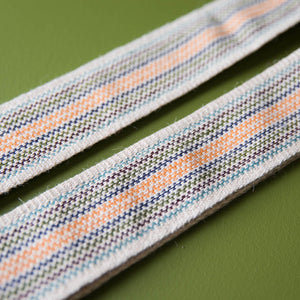 Peruvian Guitar Strap in Cream Stripes Product detail photo 2