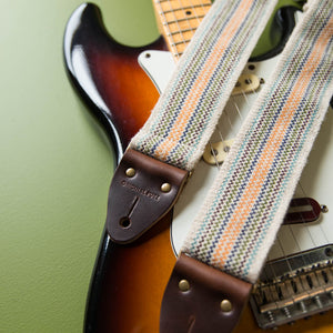 Peruvian Guitar Strap in Cream Stripes Product detail photo 0