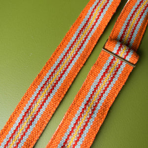 Peruvian Guitar Strap in Orange Stripes Product detail photo 1