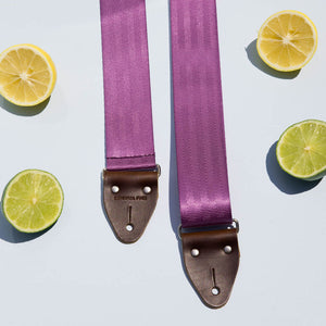 Seatbelt Guitar Strap in Purple Product detail photo 2
