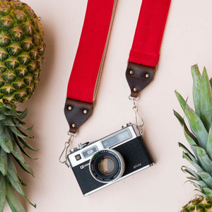 Canvas Camera Strap in Red Product detail photo 2