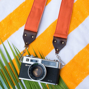 Canvas Camera Strap in Paprika Product detail photo 1
