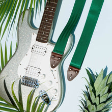 Seatbelt Guitar Strap in Matisse Green