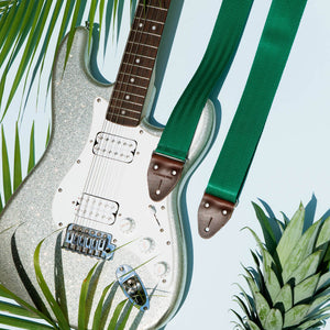 Seatbelt Guitar Strap in Matisse Green Product detail photo 0