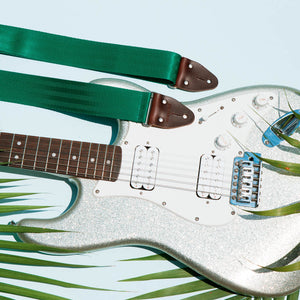 Seatbelt Guitar Strap in Matisse Green Product detail photo 3