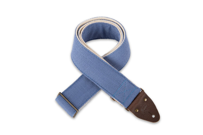 Vintage blue guitar strap by Original Fuzz.