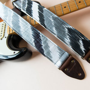 Vintage chevron patterned guitar strap made by Original Fuzz.