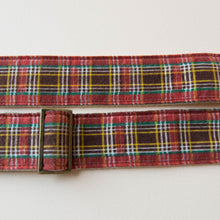 Reclaimed vintage guitar strap in red plaid - photo 4