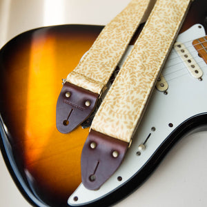 Reclaimed vintage guitar strap in 70s gold vines - photo 6