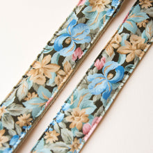 Vintage guitar strap made with a repurposed floral polyester from the 80s by Original Fuzz.