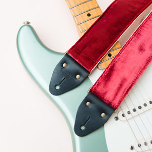 Velvet Guitar Strap in Long Island City Product detail photo 2