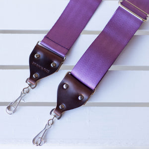 Seatbelt Camera Strap in Purple Product detail photo 0