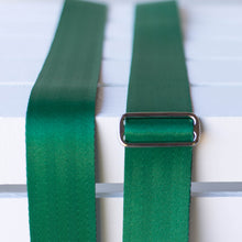 matisse green seatbelt guitar strap by original fuzz