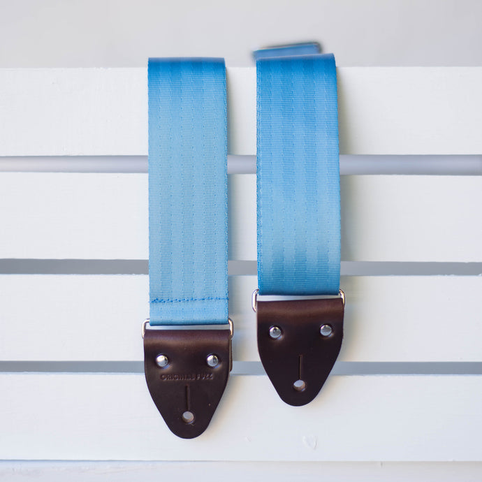 Seatbelt Guitar Strap in Powder Blue