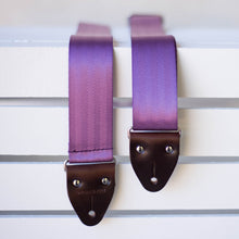 purple seatbelt guitar strap by original fuzz