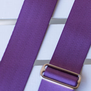 Seatbelt Camera Strap in Purple Product detail photo 1