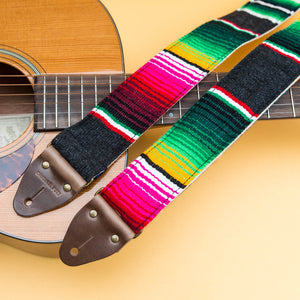 Serape Guitar Strap in Carbón Product detail photo 2