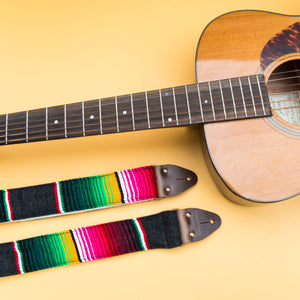 Serape Guitar Strap in Carbón Product detail photo 4
