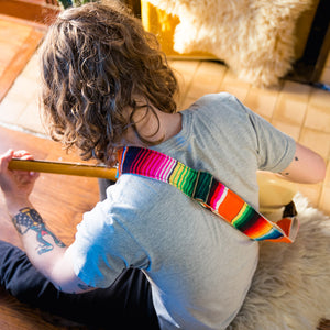 Serape Guitar Strap in Naranja Product detail photo 2