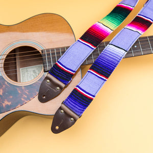 Serape Guitar Strap in Prickly Pear Product detail photo 2