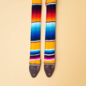 Serape Guitar Strap in El Dorado Product detail photo 3