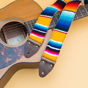 Serape Guitar Strap in El Dorado Product detail photo 5