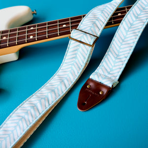 Silkscreen Guitar Strap in Shari Product detail photo 3