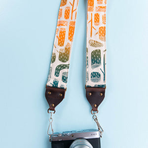 Silkscreen Camera Strap in Stumps Product detail photo 1