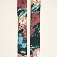 Floral skinny guitar strap made by Original Fuzz in Nashville, TN.