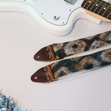 Tie-dyed guitar strap by Original Fuzz for Black Friday.