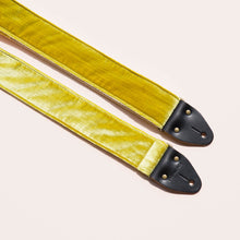 yellow green chartreuse velvet guitar strap by original fuzz