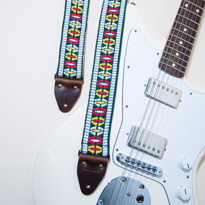 Vintage Guitar Strap in Rhododendron Ave Product detail photo 3
