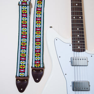 Vintage Guitar Strap in Rhododendron Ave Product detail photo 1