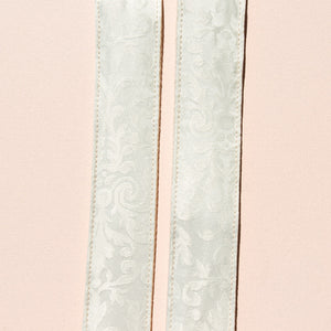 beautiful vintage white wedding guitar strap by Original Fuzz