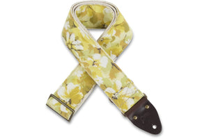 Vintage yellow floral guitar strap by Original Fuzz.