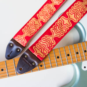 Silkscreen Guitar Strap in Ballena Product detail photo 0