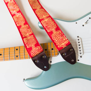 Silkscreen Guitar Strap in Ballena Product detail photo 3