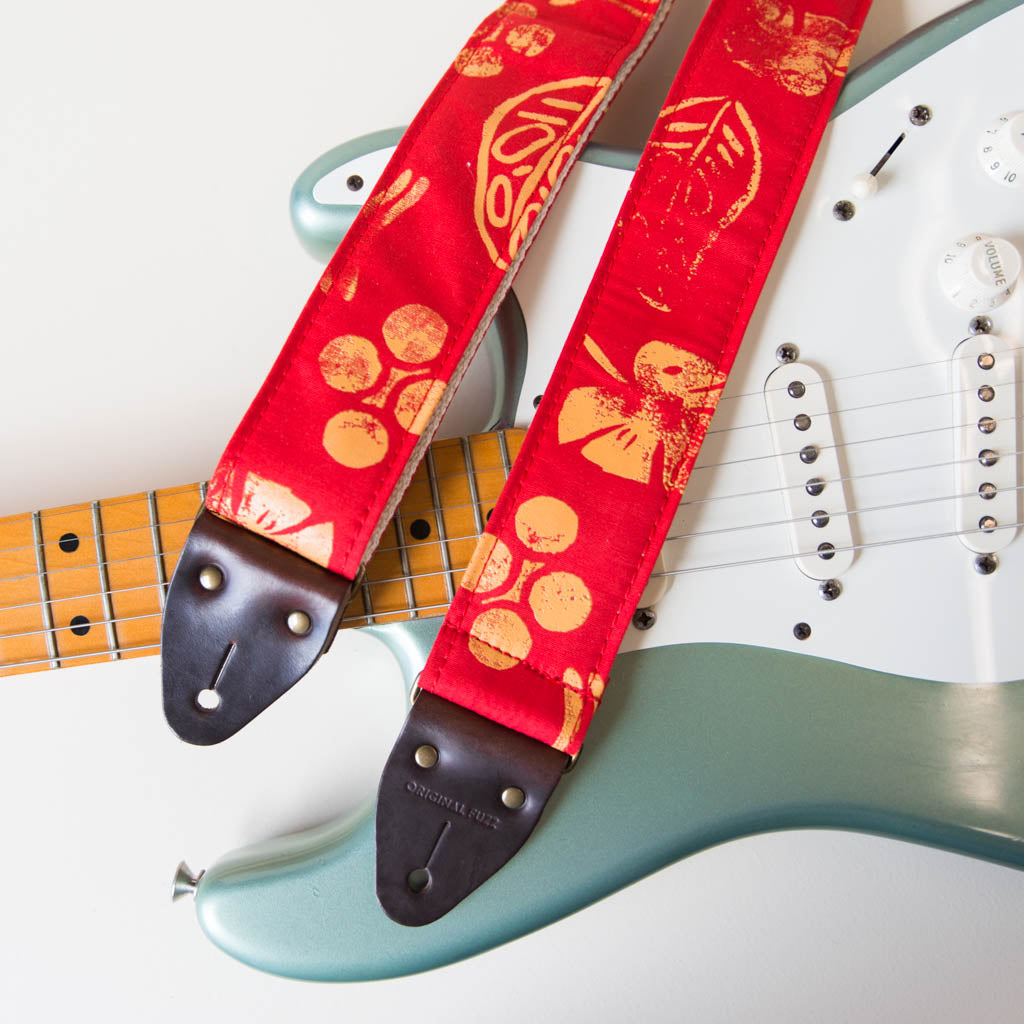 Silkscreen Guitar Strap in Dos Rios